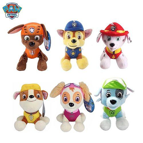 6 Pieces / set Of Paw Patrol Plush Toys 20cm Dog Patrol Animal Plush Doll Soft Filled Cotton Dog Toy Children Birthday Gift