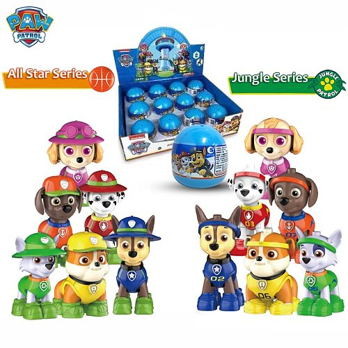 New 12 Styles Anime Cartoon Figure Model Toy Puppy Patrol Novelty Funny Egg Ball Pat Patrouille Puzzle Children Birthday Gift