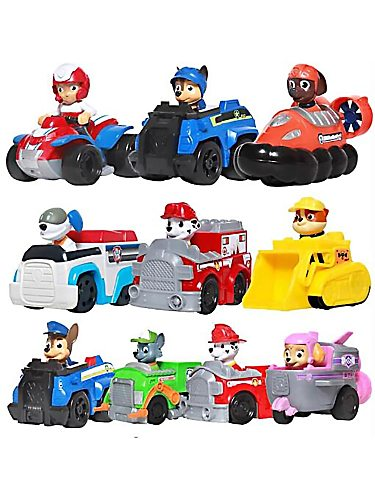 Paw Patrol Action Figures Toy Marshall Rocky Zuma Chase Ryder Rescue Role Car Model Toys Children Birthday Gift