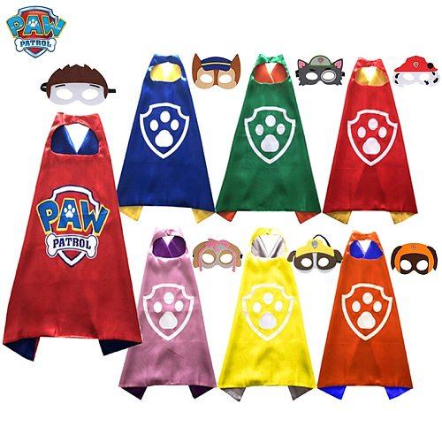 Paw Patrol Toy Set Halloween Children Dog pat patrouille Anime Figure Cosplay Costume Patrulla Canina Mask Cloak Kids Toys