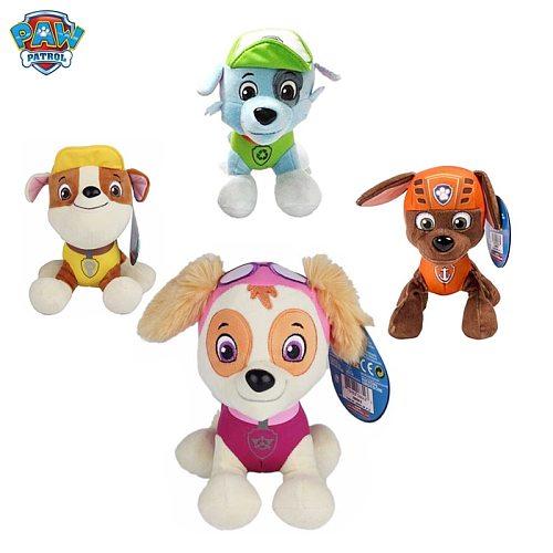 20CM Paw Patrol Dog Plush Doll Anime Children's Toy Adventure Bay Action Figure Dog Patrol Model Plush Animal Toy Gift