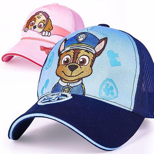 PAW PATROL Hot Children's cap Toy Puppy Patrol Kis Summer Hats Figure Toy Birthday Christmas Gift High Quality
