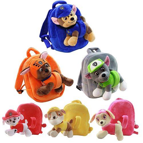 Paw patrol dog plush toy doll backpack detachable cartoon kindergarten school bag psi patrol children birthday Christmas gift