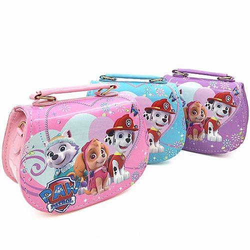 Fashion PU Paw Patrol Handbag Cute Snow Queen Mini Bag Children Cartoon Messenger Bags For Girls Kids Tote Girls Shoulder Bag