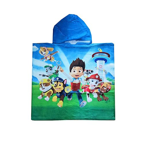 Paw Patrol Chase Skye Marshall EverestBath Towel Children's Bath Supplies Cloak  with Hood Pure Cottons Reactive Printing Gift