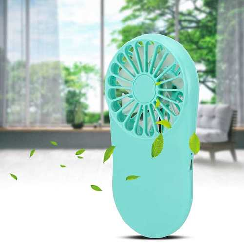 Blue Portable USB Charging Fan Mini Adjustment Pocket Electric Fan Home Outdoor Travel Supplies