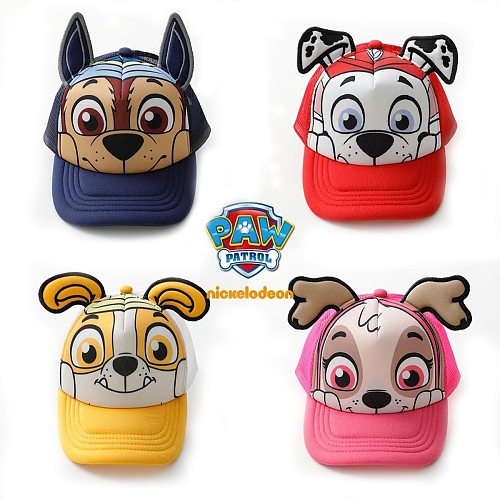 PAW Patrol Children's summer caps Cotton Cute Chase Skye Marshall Chapeau Puppy Print Breathable baseball hat