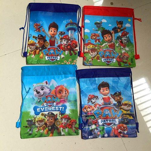 NEW Hot Paw Patrol Chase Marshall Everest Storage Bag Paw Patrol Zuma Skye Action Figure Bag Toy Party Decor Kids Birthday Gift
