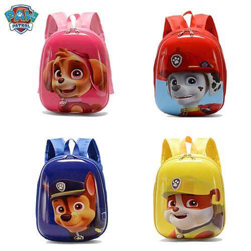 New Boy And Girl Paw Patrol Eggshell Small School Bag Kindergarten Backpack Puppy Children Cartoon Bag Kids Birthday Gift