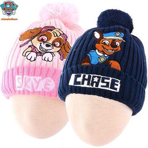 Hot sale 2021 PAW Patrol chase skye everest Doll high quality fluffy hat winter cap Children toy Christmas Birthday Gift