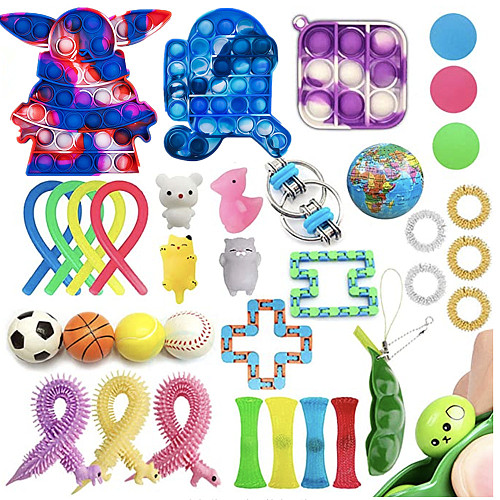 20-35PCS New Anti stress Cheap Fidget Toys Pack Sensory Fidjet Toys Kids Adults antiestres Autism Special Needs Stress Reliever Fidget Toy Pack