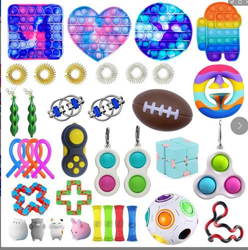 1 Set Cheap Fidget Toys Cheap Sensory Fidget Toys Pack for Kids or Adults Decompression Toy fidjets toys pack Hot Sale