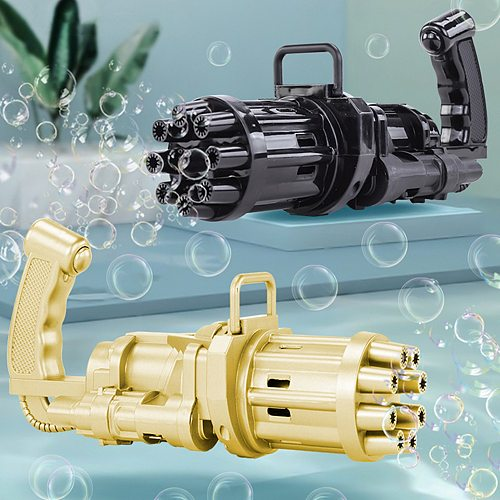 Special Gift For Kids Automatic Gatling Bubble Gun Toys Summer Soap Water Bubble Machine 2-in-1 Electric Bubble Machine For Children Gift Toys