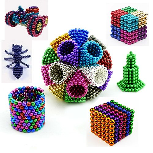 New Colorful Magnetic Ball Toys Metal DIY Magnet Balls Blocks Cube Construction Building Toys Colorfull Arts Crafts Idea Stress and Anxiety Relief Office Toy