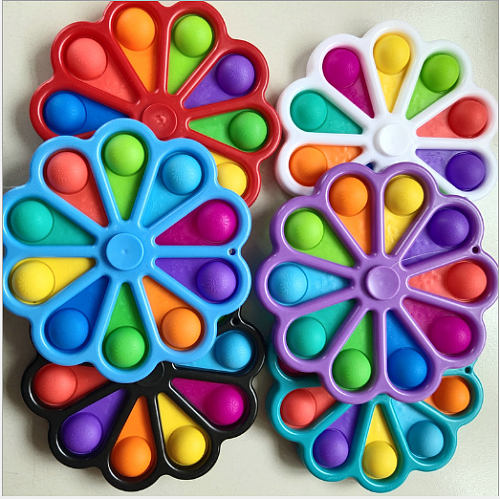 Fidget Simple Dimple Toy Flower Fidget Toys Stress Relief Hand Toys Early Educational for Kids Adults Anxiety Autism Toys
