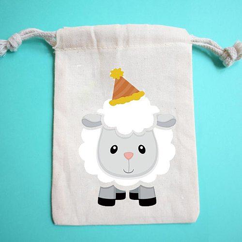 5pcs sheep candy gift bags Barnyard Farm Animal theme Birthday Party Eid Al-Adha Muslim Islamic Ramadan Mubarak Kareem supplies