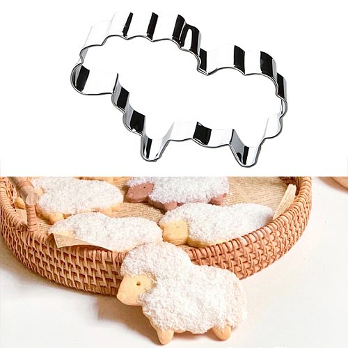 1PC Sheep Shape Cookie Stainless Steel Mold Easter Kitchenware Cookie Cutter DIY Baking Decor Pastry Modelling Tools
