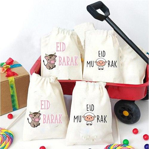 5pcs Eid Al-Adha Cattle sheep Cutlery candy gift bag Muslim Islamic Ramadan Mubarak Kareem Holiday decoration supplies present