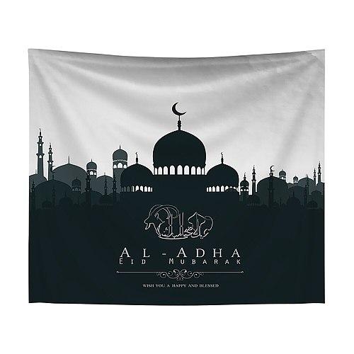 EID AL ADHA Tapestry Wall Hanging Printed Polyester Camping Tent Travel Mattress Yoga Pad Sleeping Tapestry