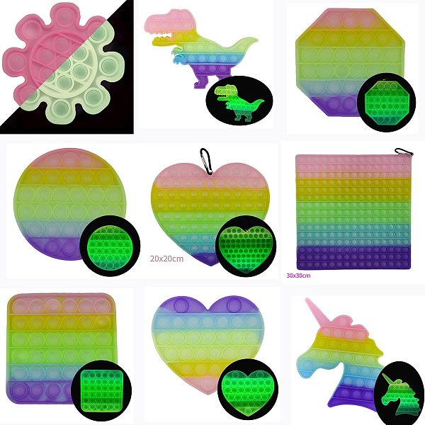 BIG Size Pop Fidget Reliver Stress Toys Simpl immer Push It Bubble Antistress Toys Adult Children Sensory Toy To Relieve Autism