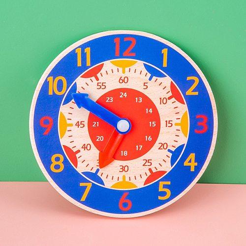 Wooden Digital Clock Toys For Kids Time Enlightenment Digital Learning Clock Geometry Blocks Number Teaching Toys Education Gift