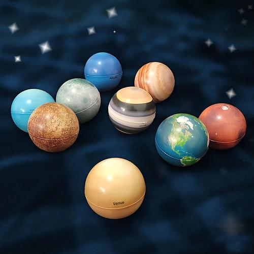 6.3cm Color Printing Sponge Soft Ball Eight Planets Moon Star Ball Early Education Foaming Children'S Toy Bouncy Ball