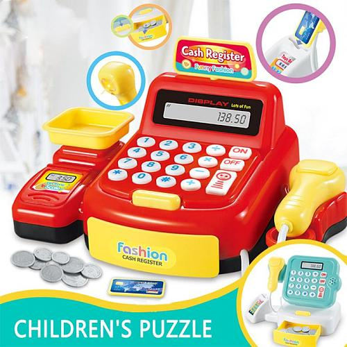 Electronic Toys Simulation Supermarket Cash Register Children Educational Toy Checkout Counter Role Pretend Play