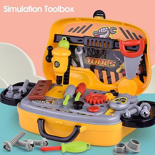 Children's Toolbox Engineer Simulation Repair Tools Pretend Toy Screwdriver Tool Kit Play Toy Set For Kids Gift Educational Toys