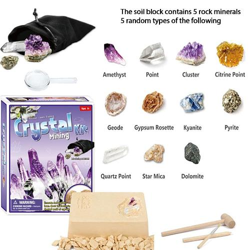 Children DIY Fossil Spar Ore Digging Toys Educational Learning Game Archaeological Excavation Toy Accessories Tool