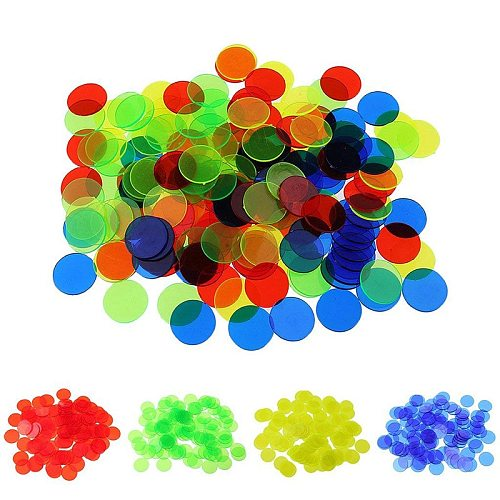 100pcs Montessori Learning Education Math Toys Learning Resources Color Plastic coin Bingo Chip Children Kids Classroom Supplies