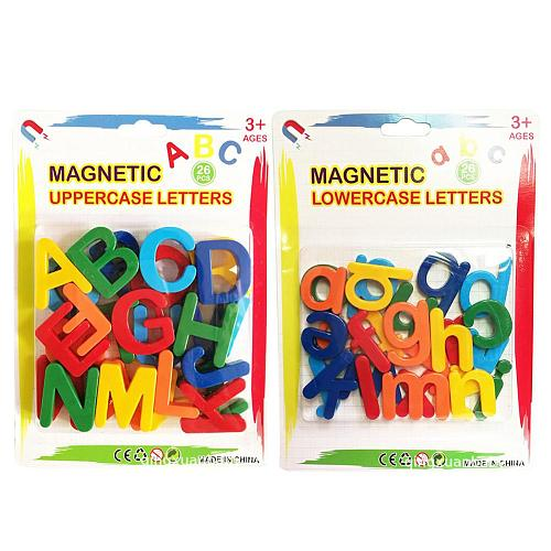 Kids Magnetic Learning Alphabet Letters Plastic Refrigerator Stickers Toddlers Kids Learning Spelling Counting Educational Toys
