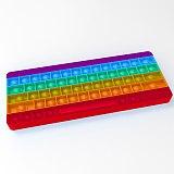 2021 New Push Bubbles Fidget Toys Keyboard Shaped Rainbow  Anti-stress Soft Sensory Toy Pop Puzzle Relieve Stress Squeeze