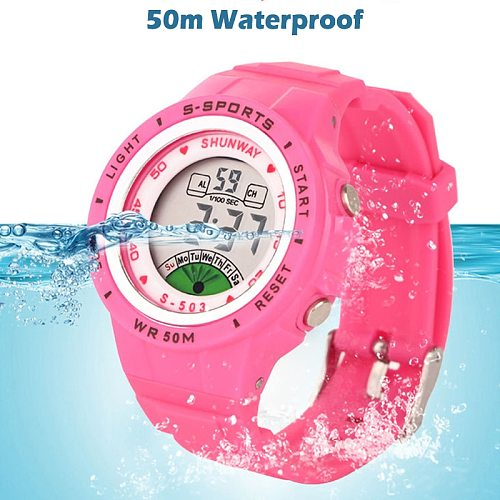Kids Children's Watch Electronic Quartz WristWatch for Boy Girl 50m Waterproof Student Sports Watches Colorful reloj