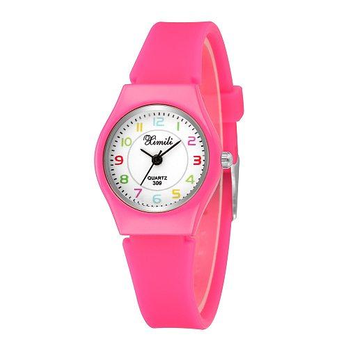 Kids quartz Sport watch for Boy Girls wristwatch casual Students clocks Black ROSE Pink Silicone Strap new