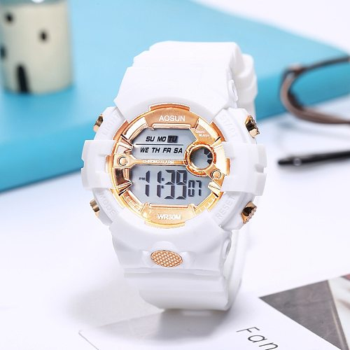 UTHAI CE39 Children's Sport watch electronic wristwatch clocks for boys Girls kids Students LED Teens