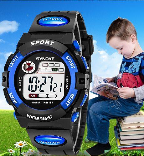 Kids Watch Sport Children Watches LED Digital For Girl Boys Wristwatch Electronic clocks Soft Strap Waterproof