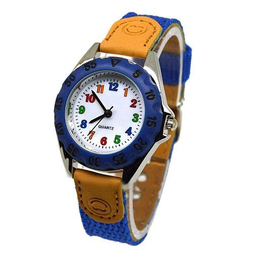 Cute Boys Girls Quartz Watch Kids Children's Fabric Strap Student Time Clock Wristwatch Gifts