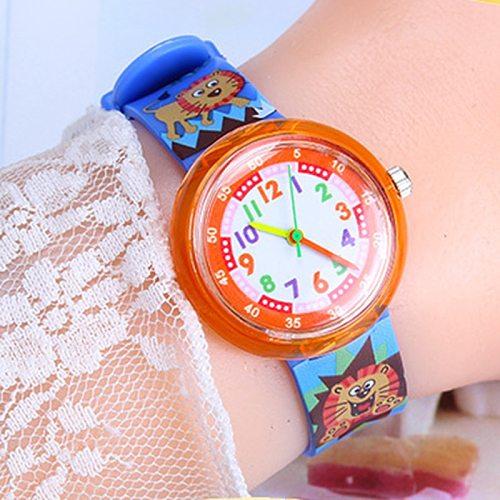 Kids watches fpr girls quartz wrist watch child for Girl boys clock Cartoon flower dog lion Multicolor clocks