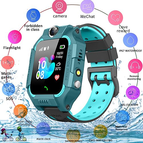 2021 Kids Smart Watch for Children SOS Call Phone Watch Smartwatch use Sim Card Photo Waterproof IP67 Kids Gift For IOS Android