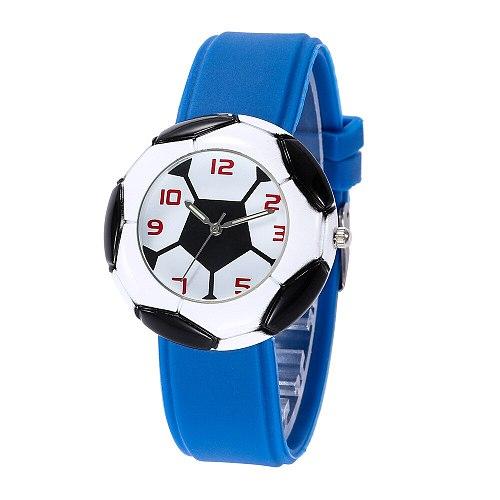 Kids watch Quartz sport football for a boy girls gift waterproof clocks wristwatch Children Child watches Silicone