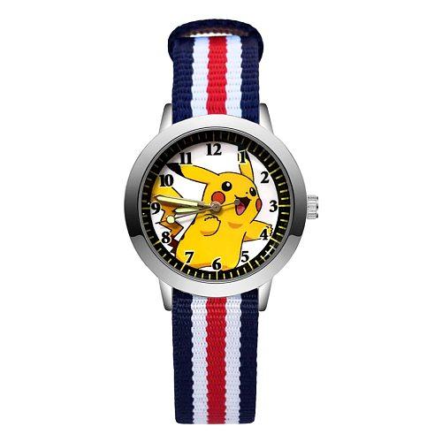 Fashion Cartoon Cute Style Children's Watches Kids Student Girls Boys Quartz Nylon Strap Wrist Watch JA171