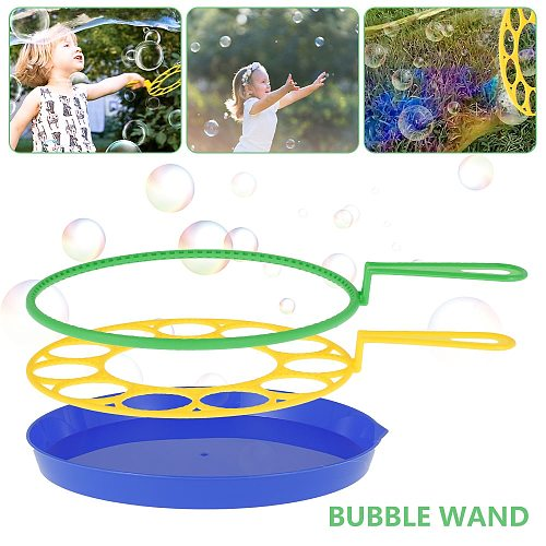 Wand Tool Soap Bubble Blowing Toys Outdoor Fun Soap Bubbles Concentrate Stick Blowing Bubble Tray Kids Interactive Toys Kits