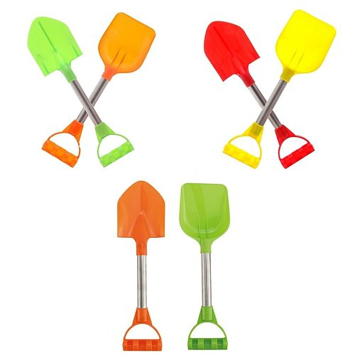 2Pcs/Set Kids Snow Beach Sand Shovels Toy Summer Baby Beach Toys With Handle For Digging Sand Beach Snow Fun Gift Gardening Tool