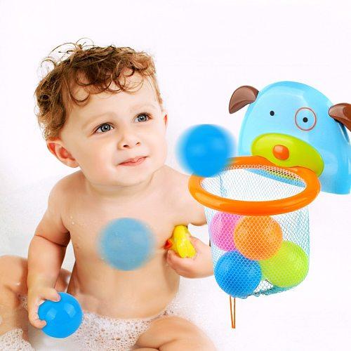 Baby Bath Toys Bathtub Shooting Basketball Hoop Balls Playset For Bathroom Toddler Boys Girls Water Toy Shower Toys For Children