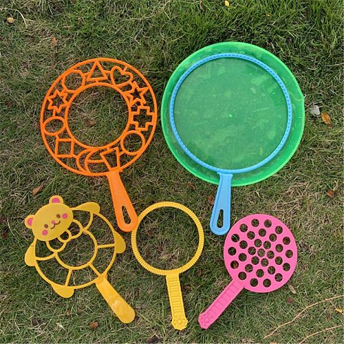 6PCS/set Jumbo Colorful Bubble Wand Bubble Blower Toy Set For Kids Summer Outdoor Fun 7IN Drop Ship