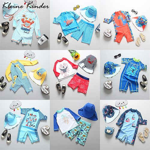 Kids Bathing Suits UV Protection Swimsuit Baby Boy Long Sleeve Swimwear for Children Swimming Suit 2020 Child Beach Pool Clothes