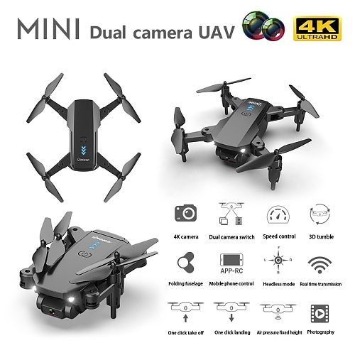S603 RC Mini Drone With 4K HD Dual Camera Aerial Photography WIFI FPV Foldable Durable Quadcopter Height Hold Toys