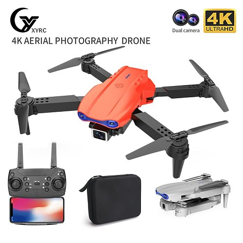 2021 NEW K3 Mini Drone 4k HD Wide-Angle Dual Camera WIFI Fpv Air Pressure Altitude Hold Foldable Quadcopter RC Dron Gifts
