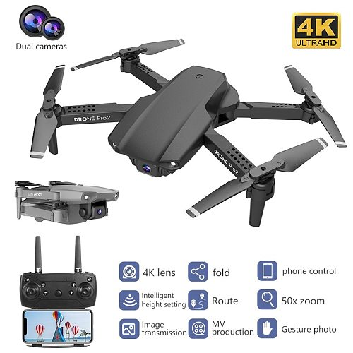 2021 E99 RC Drone  Precision Fixed Point 4K HD Camera Professional Aerial Photography Helicopter Foldable Quadcopter Gift Toys