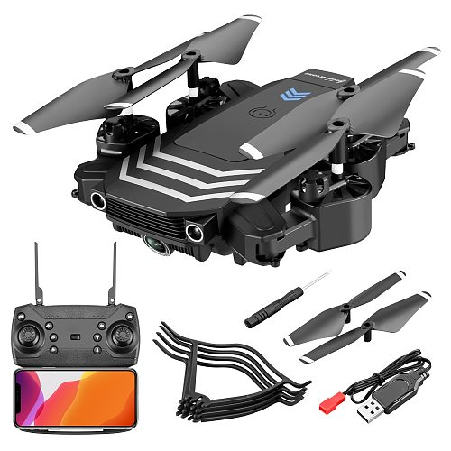 LS11 Pro Drone 4K HD Camera  WIFI FPV  Hight Hold Mode One Key Return Foldable Arm Quadcopter RC Dron For Kids Gift